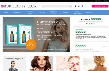 UK Beauty Club Website