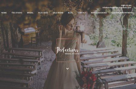 Perfections Bridal Studio Website